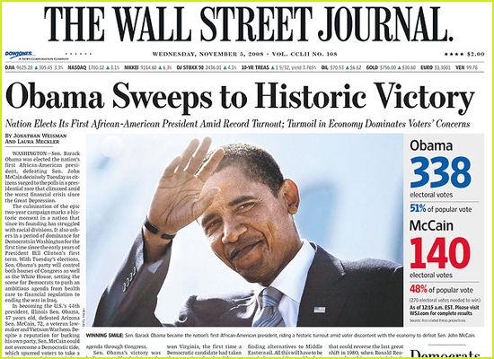 barack obama wins election article