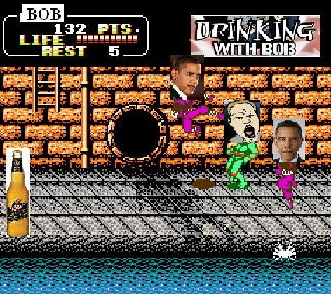A Drinking with Bob version of the TMNT Teenage Mutant Ninja Turtles NES Video Game